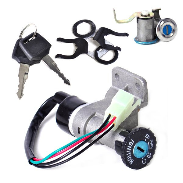 2018 Otorcycle Accessories Parts Motorcycle Ignition Dwcx 4pin Ignition Key  Switch Lock Toolbox Cushion Lock Kit For 50cc 150cc Gy6 Chinese Jo    From