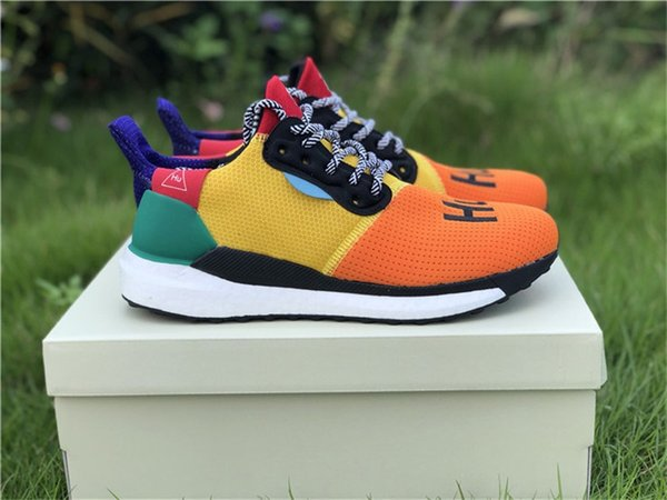 a7c811bb7 Authentic 2018 Release Pharrell Williams Solar Hu Glide Hu Trail Human Race  Man Running Shoes Sneakers