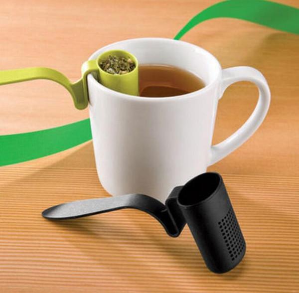 freies Verschiffen 100pcs / lot clip-on Teesieb infuser Filtersieb sortiert Der Rand der Schale Sieb Das Teesieb Teefilter Isola