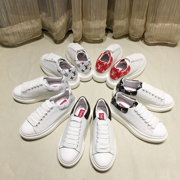 huweifeng4 qualità di stampa uomo donna lettera top coppie scarpe in pelle di vacchetta scarpe sportive casuali FRONTROW SNEAKER 1A39DN 35-45