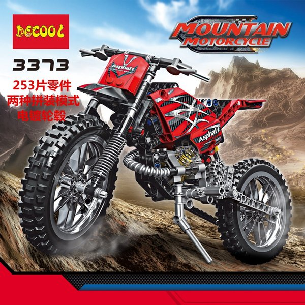 Explosive money 3373 technology mechanical building blocks, puzzle mount, mountain motorcycle 2 model toys wholesale