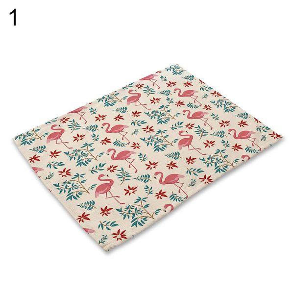 Décoration de table Belle Flamingo Fleur Feuille d'isolation Bowl napperon Table Mat Pad