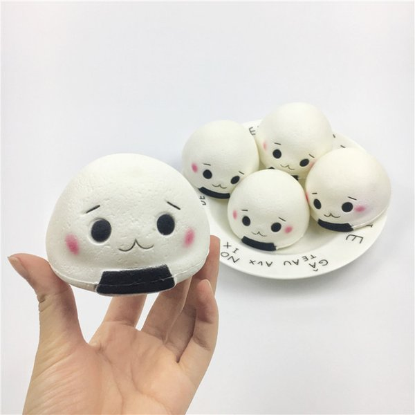 New Jumbo Kawaii Squishy Rice Ball Cake Slow Rising Collection Gift Toys For Phone Bag Straps Charm Pendant Decor