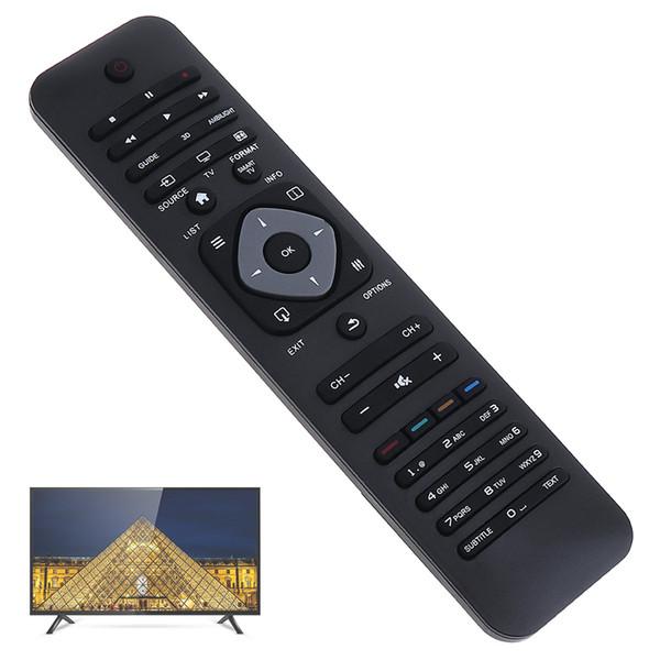 Telecomando universale TV con lunga distanza di trasmissione per Philips RM-L1128 LCD / LED 3D Smart TV HMP_009