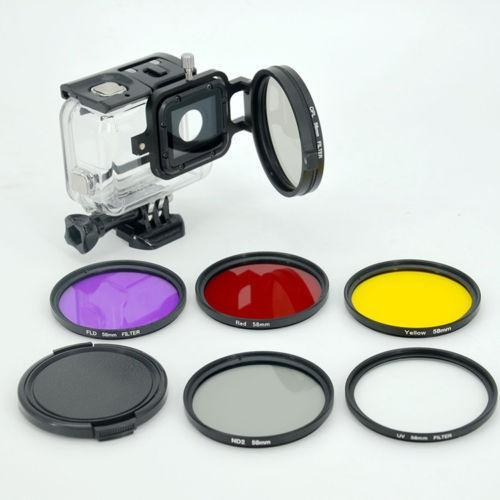 58mm UV/CPL/ND filter kit/set for Gopro Hero 5 Black waterproof housing case