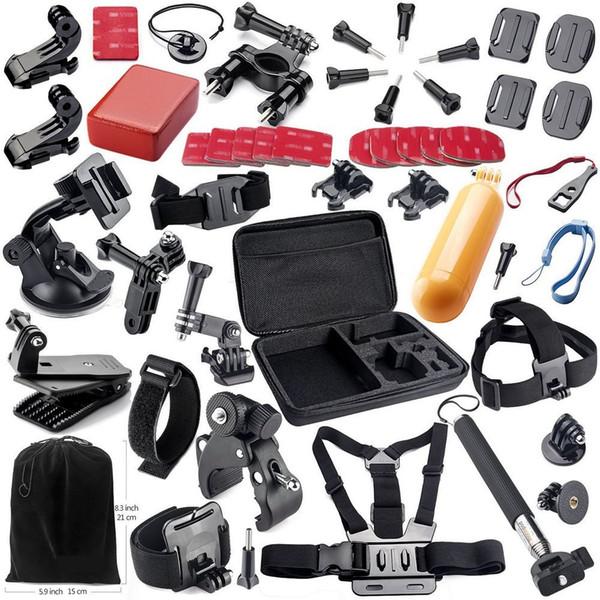 Action Camera Accessories Kits for Gopro Hero 4 SJ4000 SJ5000 SJ6000 SJ7000 SJ9000 Xiaomi Yi Sports Cameras Free Shipping