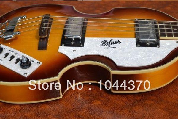 2012 new arrival + free shipping + Guitar factory + Custom Hofner Icon Series Vintage Violin Bass Guitar, German Hofner bass