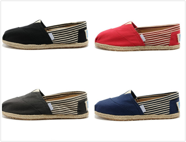 Drop shipping hot brand men and women Wholesale Fashion Sneakers Canvas Shoes loafers jute Flats Espadrilles casual Breathble shoes With Box