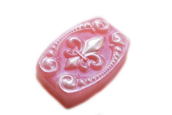Silica gel silicone mold Fleur de Lis Soap Party Favor Gift Flower Soap handmade soaps molds DIY mould aroma stone moulds