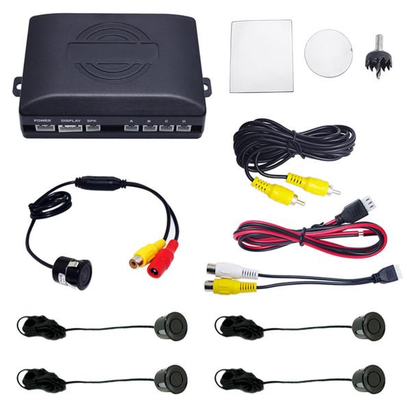 vente en gros de voiture capteur de stationnement arrière-capteur 4 inversion système d'aide avec 18.5mm snap ring montage caméra # 2062