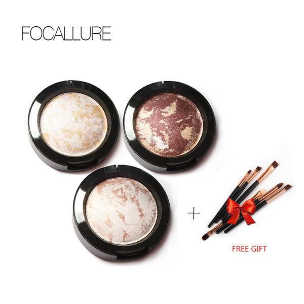 Acheter 3 obtenir 1 cadeau Palette d'ombre à paupières cuit au four dans des yeux métallisés miroitants maquillage Outils cosmétiques facile à porter