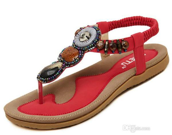 sandales pour femmes sandales plates d'été pour dames bohême plage tongs chaussures gladiateur femmes chaussures sandales plateforme Zapatos Mujer Sandalias