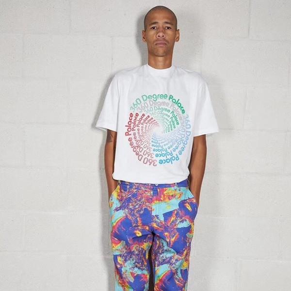 PAL Luxury Brand Designer Men Women T-shirt Printed Beach Street Skateboard Short Sleeves Casual Simple Summer Breathable Tee HFYMTX135