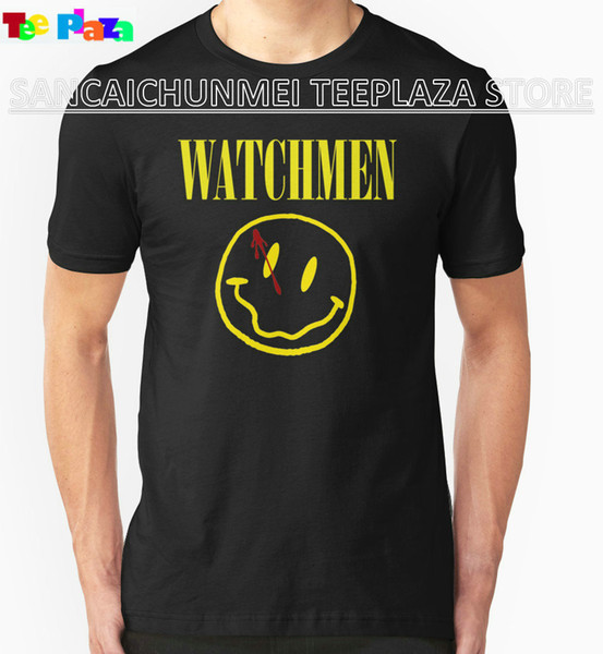 2017 Time-limited Real O-neck Cotton Knitted Print No Teeplaza Online Custom T Shirts Men's Short Sleeve Fashion Watchmen Tee
