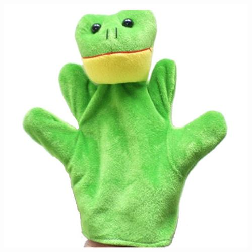 Cute Baby Child Zoo Farm Animal Hand Sock Glove Puppet Finger Sack Plush Toy NewModel:Frog