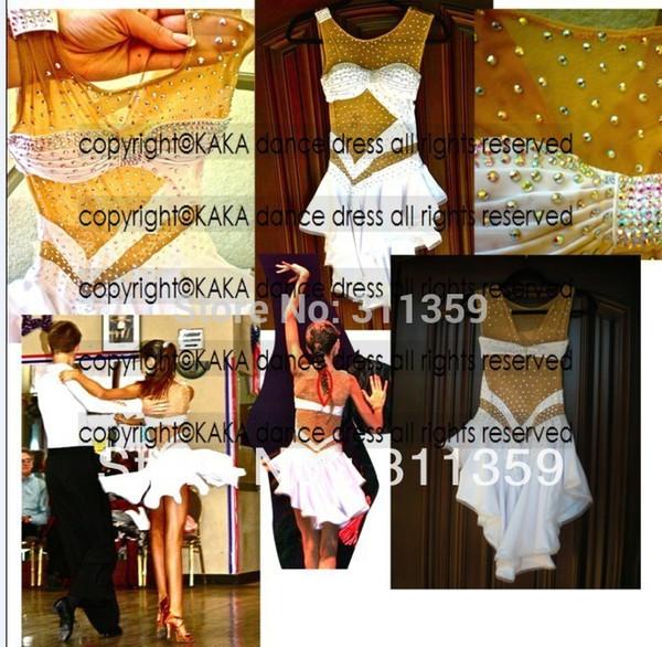 KAKA-L130369, desgaste de dança latina, vestido de competição de salsa tango samba rumba chacha vestido de dança latina, vestido de salsa para venda