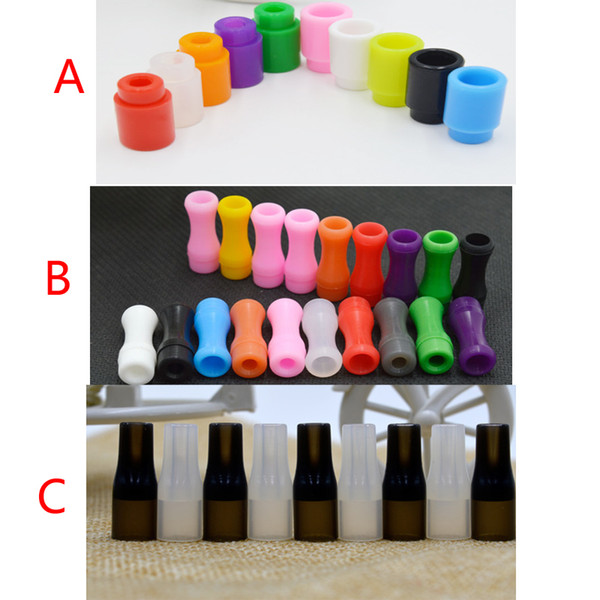 510 Silicone Mouthpiece Cover Drip Tip Disposable Colorful Silicon Testing caps rubber short ego Test Tips Tester Cap drip tips For ecig DHL