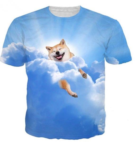 Cute Dog Print 3d T Shirt Men Women Plus Size Summer Funny Tshirts Animal Pig Cat Tee Camiseta Homme Shirt Dropship S-XXXXXXL U740