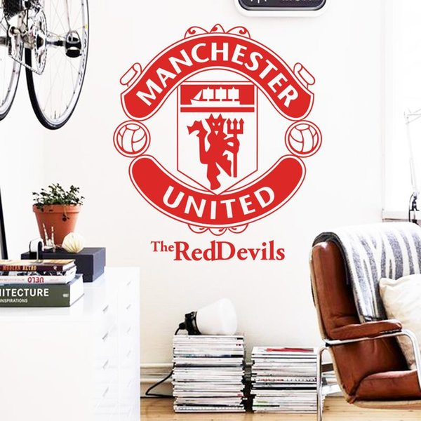 Art Design home decoration Vinyl football marks Wall Sticker removable soccer club signs room decor decals in bedroom or shop