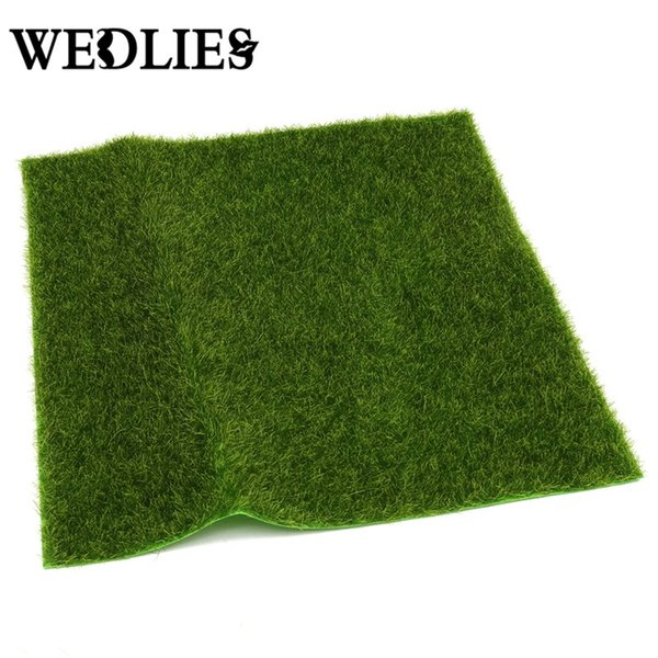 Realistic Simulation Grass Mat Green Artificial Lawns 30x30cm Small Turf Carpets Fake Sod Home Garden Moss For Floor Decoration