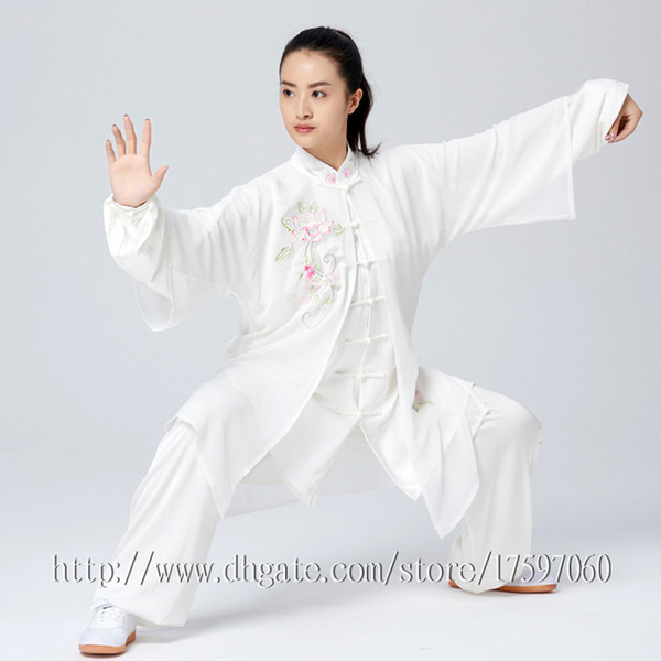 best selling Chinese Tai chi garment Kungfu uniform taijiquan suit Qigong outfit Embroidery clothes for women men girl boy children adults kids