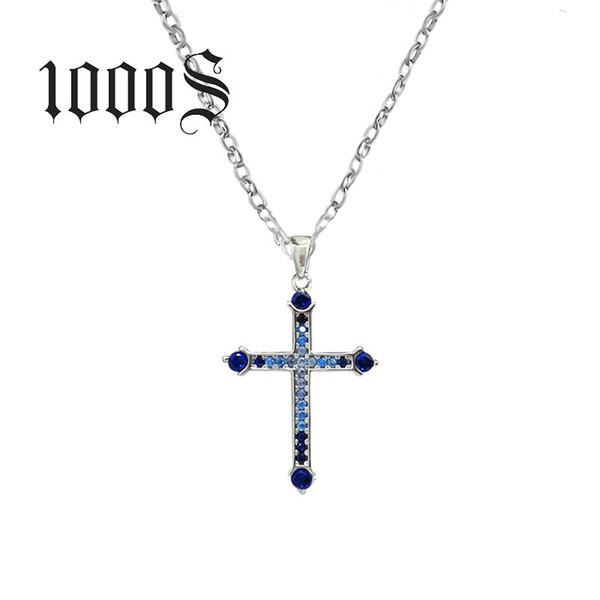 Fine Genuine 100% 925 Sterling Silver Necklace Women Jewelry Fashion Newest Cubic Zirconia Cross Necklaces Pendants