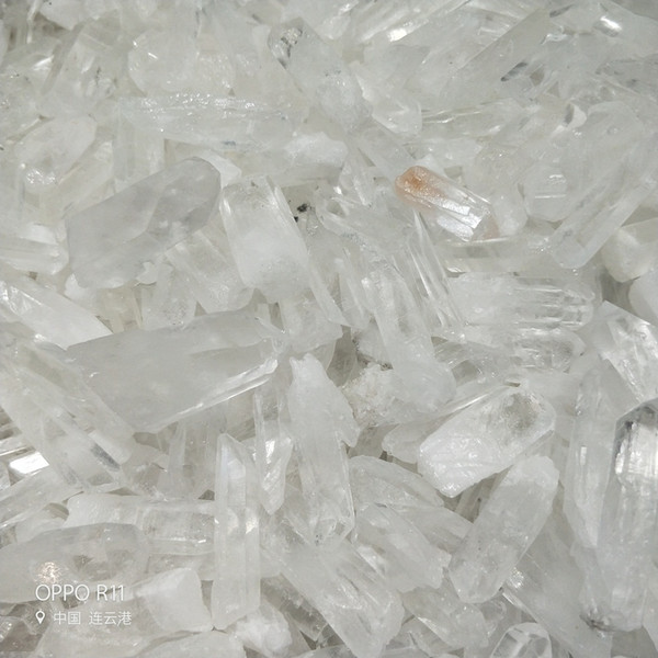 100 g Puntos de cristal de cuarzo transparente natural Pieza de varita terminada Piezas de cristal de cuarzo puntas originales en bruto Espécimen de varita