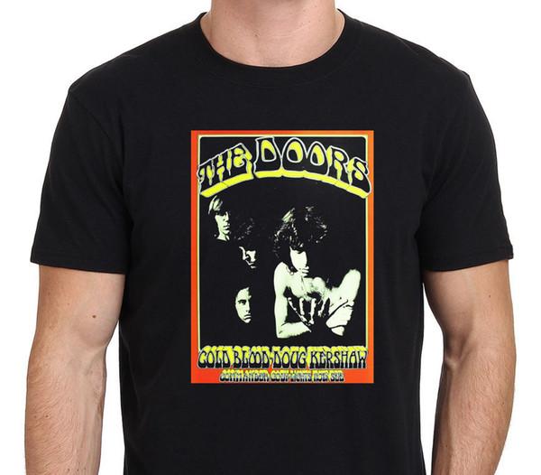 Kapılar Jim Morrison Vintage Turu Posteri erkek Siyah T-SHIRT boyutu: S-XXL hoodie hip hop t-shirt ceket hırvatistan deri tshirt