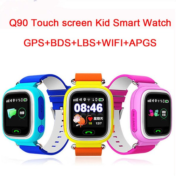 Q90 GPS Touch Screen WIFI Smart Watch Children SOS Location Finder Device Tracker Kid Safe Anti Lost Monitor Smartwatch