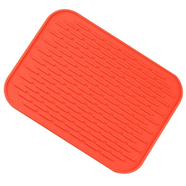 Best Small Silicone Pot Holder Heat Resistant Pot Mat Silicone Trivets Pat Coaster Placemat(red)