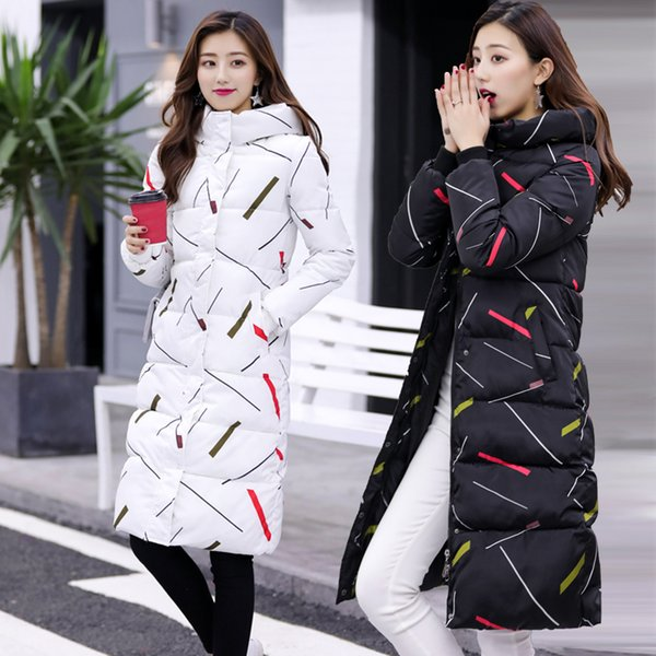 2018 Thick Warm Thin Hooded Cotton Long Parka Plus Size Women Winter Coat Jacket Clothing for Mujer Feminine De Inverno Casaco S18101505