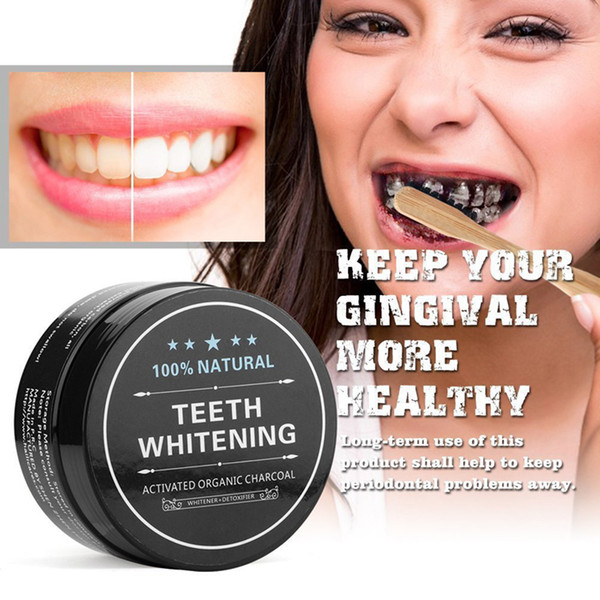 top popular 2018 All Natural and Organic Activated Charcoal Teeth Whitening Tooth and Gum Powder Total teeth Whites 30g from cecily 2021