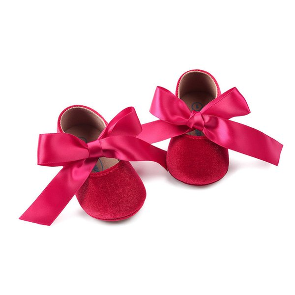 Kids Toddler Baby Girls clothes solid casual Bowknot Soft Sole Princess Party Shoe Soft Shoes Flats Shoes one pairs