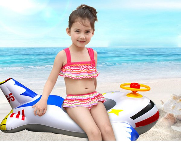 Children With A steering Wheel Inflatable Small Yacht Thickened Anti Air Leakage Mouth Children's Swimming Boat Suitable For Ages 1 to 4