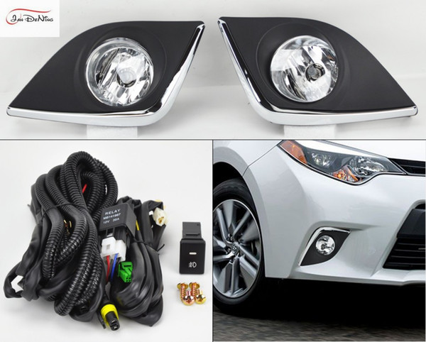 Car Fog Lights for TOYOTA Corolla 2014-2016 (USA TYPE) Halogen bulb H11-12V 55W Front Fog Lights Bumper Lamps Kit