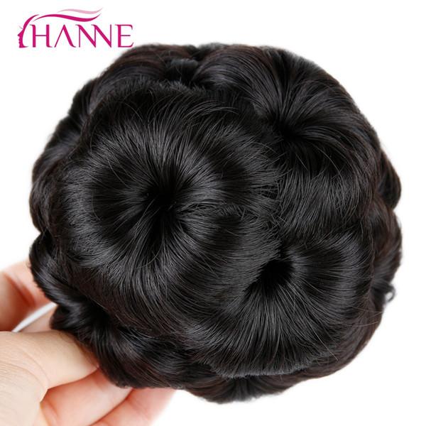 HANNE Hair Women Chignon Haarknoten Donut Clip In Haarteil Extensions Schwarz / Braun / Rot Synthetische Hochtemperaturfaser Chignon