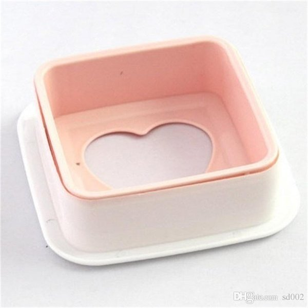 Sandwich molde herramienta de cocina para hornear Pan Pita DIY Pink Producer Love Shape Pocket máquina de pan práctica 2 05nh cc