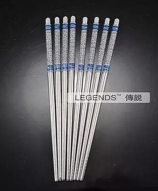Forme a conejo azul los palillos decorativos del acero inoxidable al por mayor 50 par / porciones que envían libremente