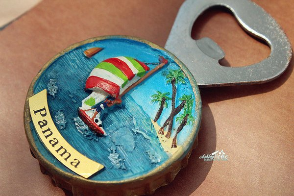 Holiday in Panama Tourist Travel Souvenir 3D Resin Fridge Magnet Craft Beer Bottle Opener