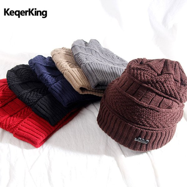 Fashion Winter Wool Caps Men and Women Outdoor Riding Knitting Plus Velvet Hat Set Thick Warm Headgear Bib Two-piece Suit