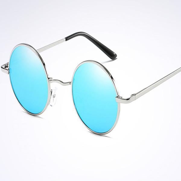 Gafas de sol redondas clásicas con montura redonda, gafas de sol polarizadas para hombre y para mujer. Gafas antiflexión Prince Mirror UV400 7 colores
