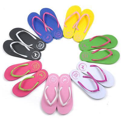 7 Colors Girls Pink Flip Flops Love Pink Sandals Pink Letter dog Beach Slippers Shoes Summer Soft Sandalias Beach Slippers 20pair