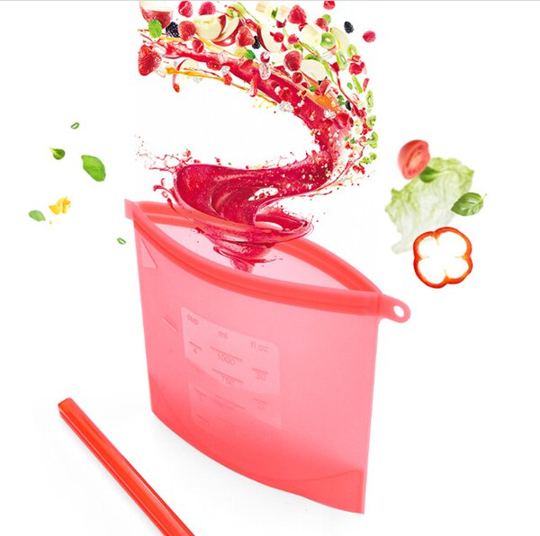kitchen Tools Storage Bags Silicone Fresh Storage Bags Food Preservation For Home Food kitchen Organization Gadgets Free Shipping 40PC wn349