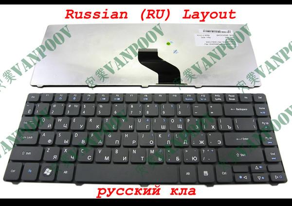100% New Laptop keyboard for Acer Aspire 3810 3810T 4735 4735G 4735Z 4736 4736G 4736Z Matt Black Russian RU version - V104602AS1