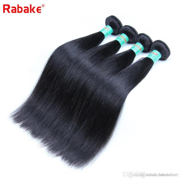 8A Quality Rabake Brazilian Straight Virgin Hair Weave Bundles 100 Unprocessed Straigt Brazilian Human Hair Extensions Best Cheap Weaves