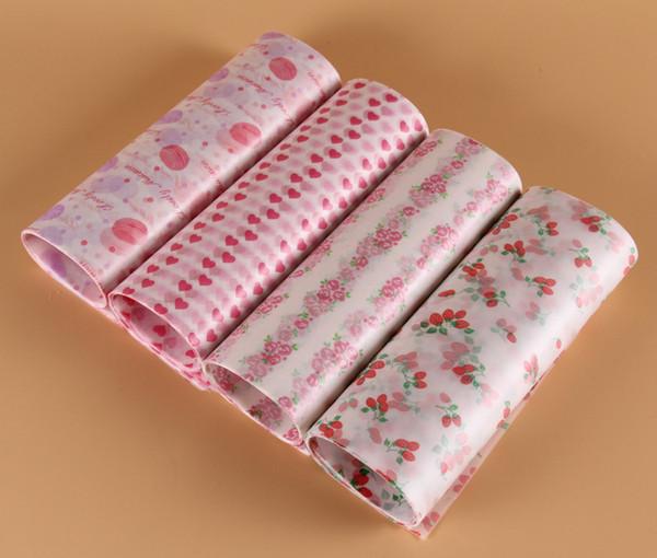 Food Grade Candy Wax Rivestimenti in carta oleata per hamburger pane Candy Oilproof Wrap Wrap fai da te compleanno festa nuziale carta da forno