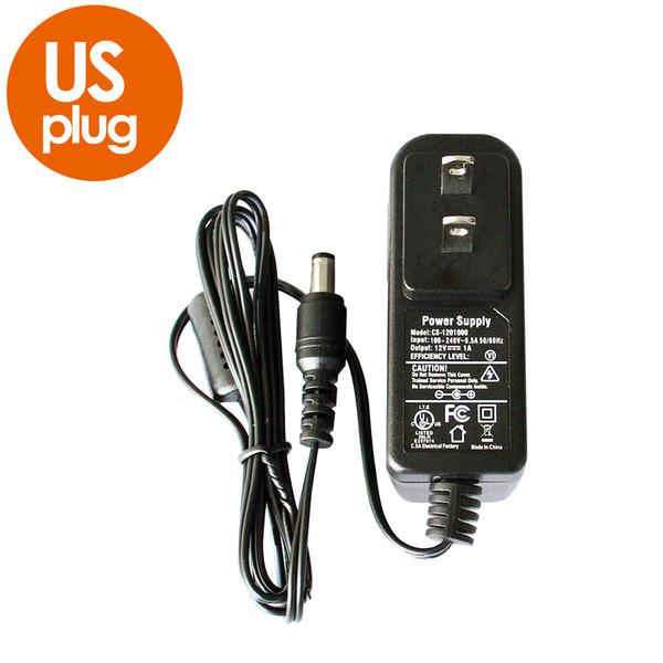 12V 1A AC 100V-240V Converter Adapter DC 12V 1000mA CE UL standard Power Supply EU UK AU US Plug 5.5mm x 2.1mm for CCTV Camera