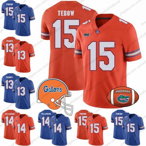 Florida Gators 2018 NEUE MARKE # 13 Feleipe Franks 14 Chris Williamson 15 Eddy Pineiro 15 Tim Tebow NCAA-Fußballtrikots S-3XL