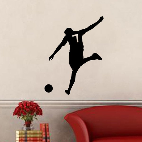 Soccer Players Football Wall Stickers Soccer Wall Decal For Kids Room Sport Football Sticker Boy Bedroom Mural Home Decor