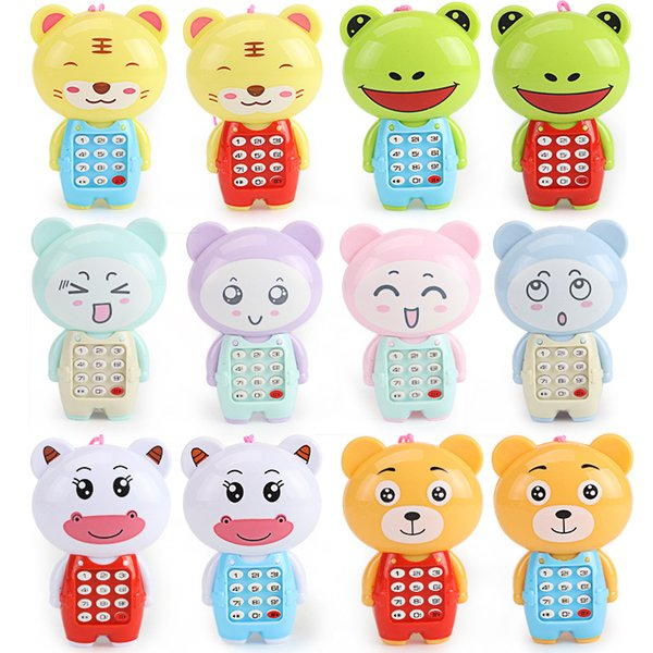 Cartoon Children Animals Mobile Phone Toys Digital Vocal Glowing Musical  Sounding Kids Educational Toys Xmas Birthday Gifts Cats Intelligence Are  Cats